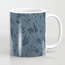 Wild Cosmos, Denim Blue Coffee Mug