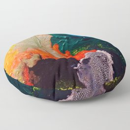 El Nino Abstract Floor Pillow