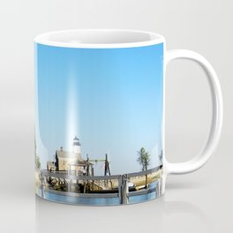 Sheffield Island Lighthouse, Norwalk, Connecticut, blue sky Coffee Mug
