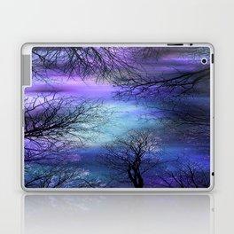 Black Trees Purple Blue Abstract Sky Laptop & iPad Skin