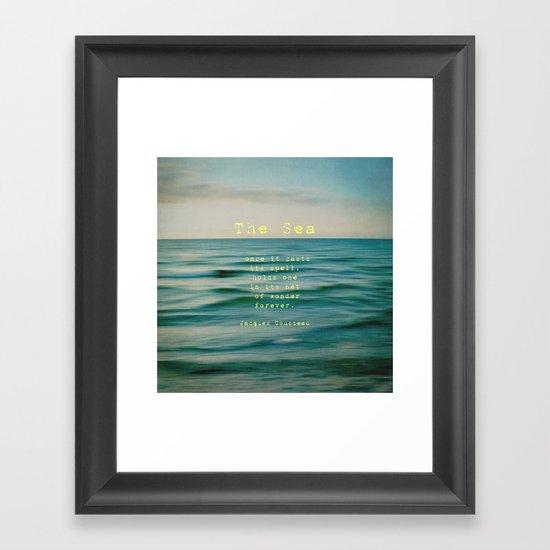 The Sea - typo Framed Art Print