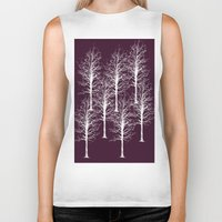 forrest Biker Tanks featuring Ghost Forrest by Helle Gade