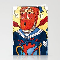 sailor Stationery Cards featuring Sailor by Ricardo Cavolo
