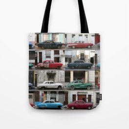 Cuba Cars - Horizontal Tote Bag