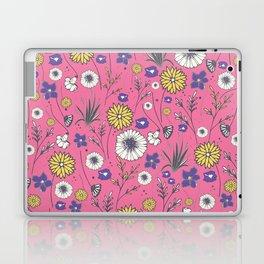 Emma - Wildflowers in Bubble Gum Pink Laptop & iPad Skin