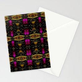 Golden abstracte pattern landscape Stationery Cards