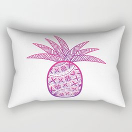 UrbanNesian Purple & Magenta Fineapple Rectangular Pillow