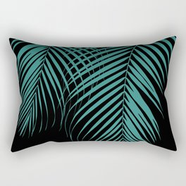 Summer Night Palm Leaves #1 #tropical #decor #art #society6 Rectangular Pillow