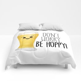 Beer | Don't Worry Be Hoppy Comforters