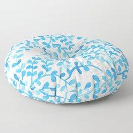 Blue flowers Floor Pillow