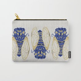 Cicada – Navy & Gold Carry-All Pouch