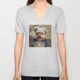 Always Thinking of You... | Yorkie | Dogs | Nadia Bonello Unisex V-Neck