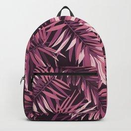 Rose palm leaves Backpack