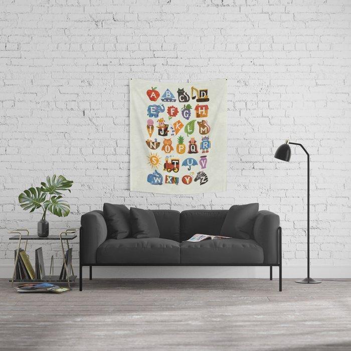 Alphabet Wall Tapestry