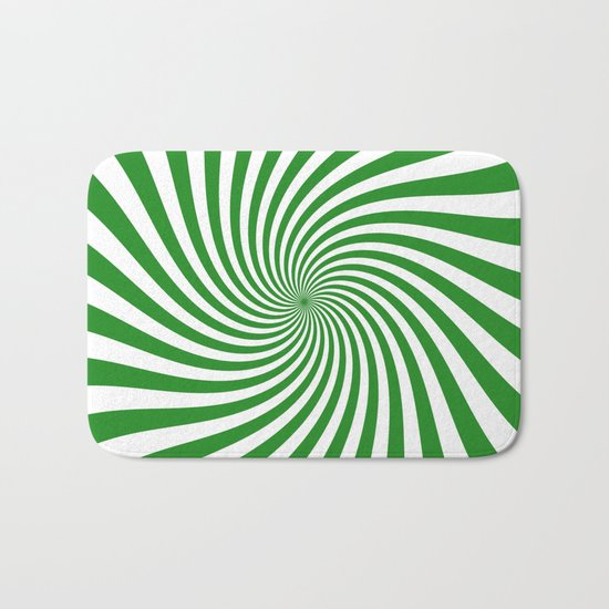 Swirl (Forest Green/White) Bath Mat