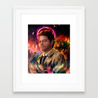 castiel Framed Art Prints featuring Castiel by ururuty