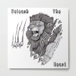 The Lion's Rage Metal Print