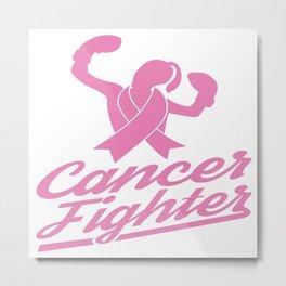 Breast Cancer Fighter Survivor Support Awareness Metal Print