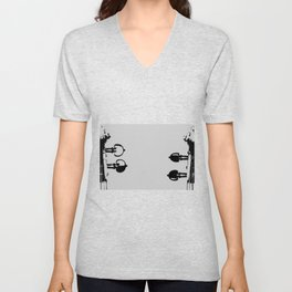 Violin Background Unisex V-Neck