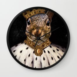 Lord Peanut (King of the Squirrels!) Wall Clock