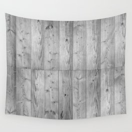Wood 6 Black & White Wall Tapestry