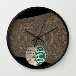 Ball on Pipe 4 Wall Clock