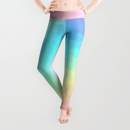 Pastel Rainbow Gradient With Stained Glass Effect Leggings