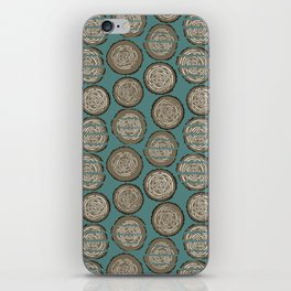 Woodcutter Log Pile Blue iPhone Skin