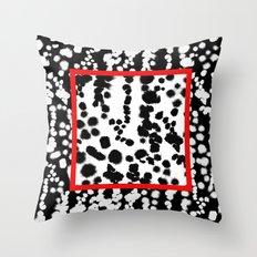 Dalmatian Dot Splatter Throw Pillow