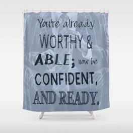 Black Man Confidence Shower Curtain