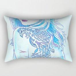 Tattoo Blue Rectangular Pillow