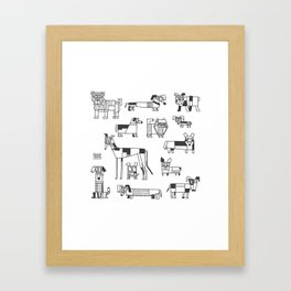 dogs of Berlin Framed Art Print