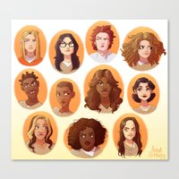 oitnb Canvas Prints featuring OITNB by Anna Rettberg