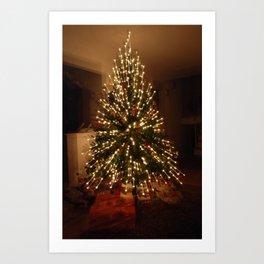 Christmas Tree - Small Explosion Art Print