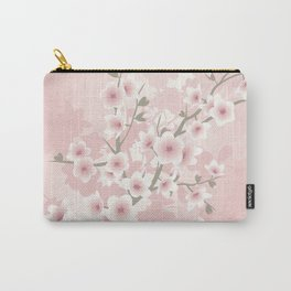 Vintage Floral Cherry Blossom Carry-All Pouch