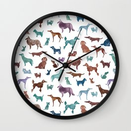 Doggies all over Wall Clock