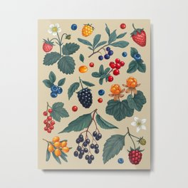 Forest Berries Metal Print