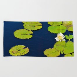 Dark Blue Pond by Teresa Thompson Beach Towel