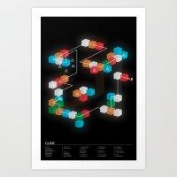 CUBE Fan Poster Art Print