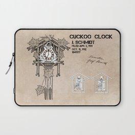 Cuckoo clock patent art Laptop Sleeve