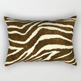 ZEBRA IN WINTER BROWN AND WHITE Rectangular Pillow