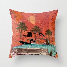 Miami Vibes Throw Pillow