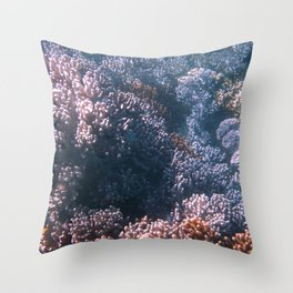 Soft Corals, Great Barrier Reef Throw Pillow