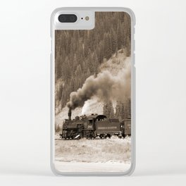 Steam Hauled Train - Engine 486 Clear iPhone Case