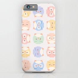 Fluffy Owl Pattern iPhone Case