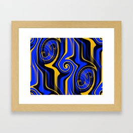 Regal Blues Abstract Framed Art Print