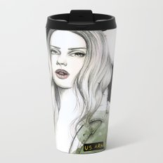 Army Girl Metal Travel Mug