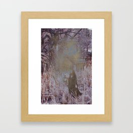 Fine Line Between Dreams and Nightmares Framed Art Print