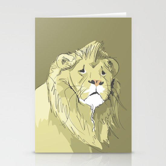 The Sad Lion Stationery Cards