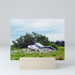Boat in a Field Mini Art Print